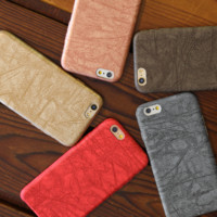 Unique Simple All Inclusive Soft Suede Leather Phone Case For Iphone 6 6s plus