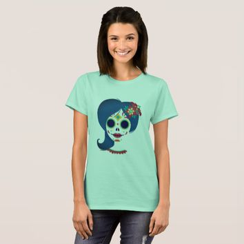 Decorative funny Mexican women head T-Shirt