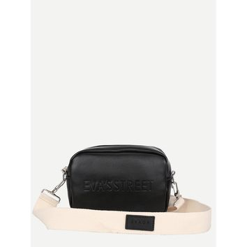 Letter Print Crossbody Bag Casual