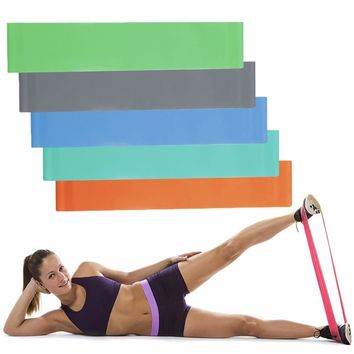 yoga fitness resistance band elastic latex belt loop pull strength training new arrival