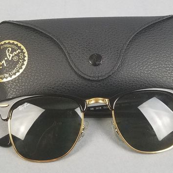 Ray-Ban RB3016 Clubmaster Unisex Sunglasses Black Frame 49mm