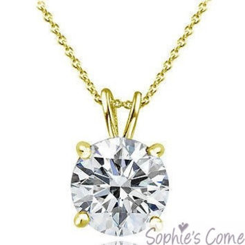 1 ct. Created Diamond Solitaire Pendant Necklace