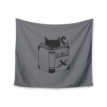 "Tobe Fonseca ""To Kill A Mockingbird"" Gray Cat Wall Tapestry"