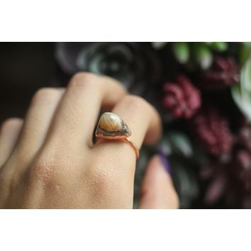 Size 8; Mexican Fire Opal Ring