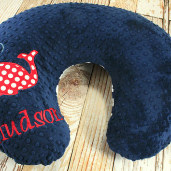 Personalized  Whale Nursing Pillow Cover in Your Choice of Fabrics