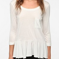Daydreamer LA Flutter Hem Long-Sleeved Tee
