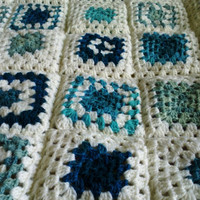 Crochet Baby Blanket Pattern with colorful squares