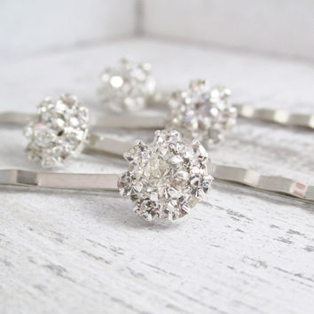 Wedding Rhinestone Hair Pins, Silver Crystal Hair Pins, Bridal Hair Pins, Wedding Hair Accessories, Bridal Hair Jewlery
