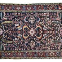 5x7 Antique Bakitiary Carpet