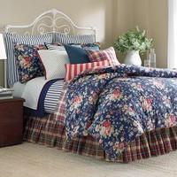 Chaps Home Cape Cod 4-pc. Reversible Comforter Set - Queen