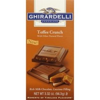 Ghirardelli Toffee Crunch Milk Chocolate Squares 3.32 oz