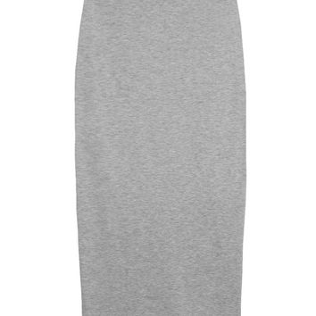 Heather Grey Knit High-waist Skirt