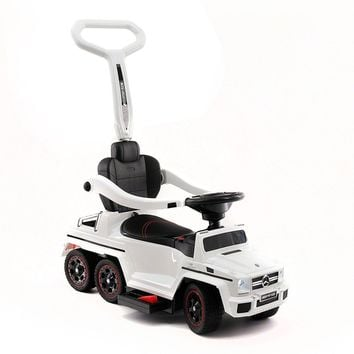 MERCEDES G63 AMG 6X6 CHILDREN ELECTRIC RIDE ON CONVERTIBLE PUSH AND FOOT TO FLOOR CAR   WHITE