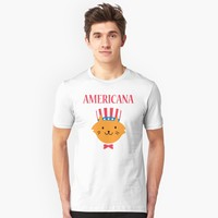 'Fourth of July Americana Kitty Cat' T-Shirt by JevLavigne