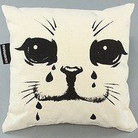 Karmaloop.com - Global Concrete Culture - The Sad Cat Pillow in White by NOOWORKS
