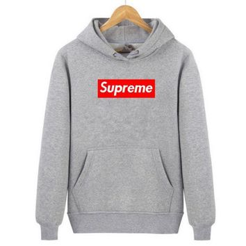 """Supreme""Fashion Printed Letters Long Sleeve hoodie Sweater"