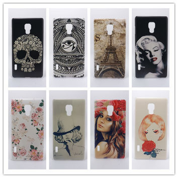 2016 New Fashion Multi species Painted Hard Plastic Phone Case Cover For LG Optimus L7 II Single SIM P710 P713
