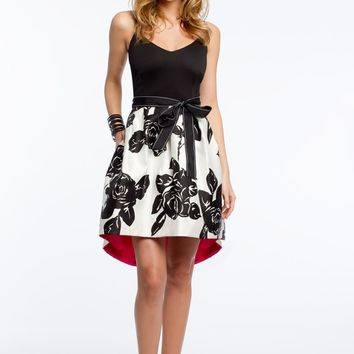 Jersey with Floral Print Skirt
