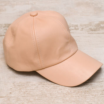 Alabama Shakes Pleather Hat - Nude