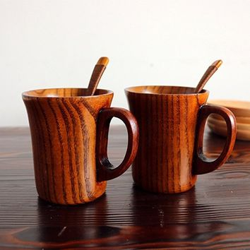 1 PC Retro-style Jujube Wooden Cup Primitive Handmade Natural Wood Coffee Tea Water Mug