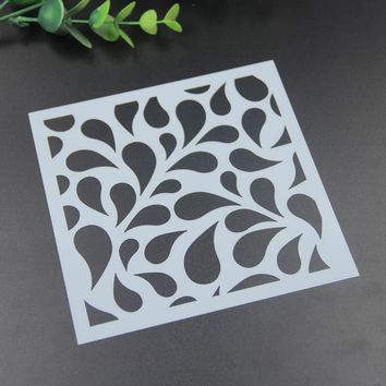 Diyscrapbook Flowers on fabric wall or art etc painting drawing&cmasking spray painted coating stencil art supplies