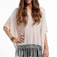 Loose Ends Poncho $29
