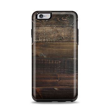 The Dark Wooden Worn Planks Apple iPhone 6 Plus Otterbox Symmetry Case Skin Set
