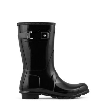 Hunter Original Short Rain Boot Women's - Black Gloss