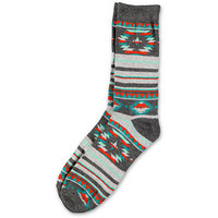 Empyre Mountaineer Native Print Grey Crew Socks at Zumiez : PDP