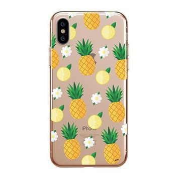 Pineapple Lemon Summer - iPhone Clear Case