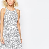 River Island Organza Floral Skater Dress