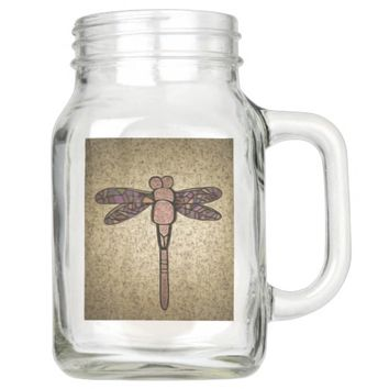 Dragonfly Mason Jar with Handel