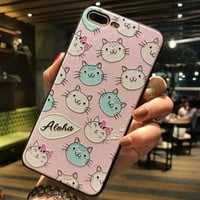 Kitty Cat Case for iPhone X 8 7 6S Plus &Gift Box