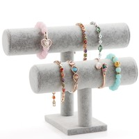 2 Layer T-Bar Bracelet Holder Jewelry Display Stand