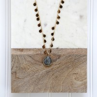 Raindrops Necklace, Gold
