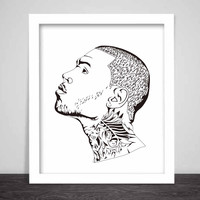 Chris Brown Art Poster (3 sizes) // Breezy fan of a fan X one hell of a night tour
