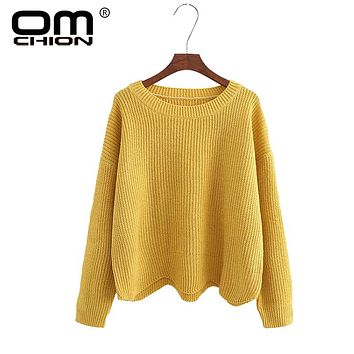 Autumn O Neck Women Sweaters And Pullovers Casual Solid Waves Irregular Jumper Knitted Female Loose Variegate