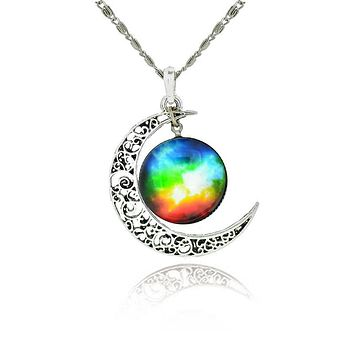 Star Moon Necklace and  Pendant