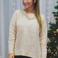 Bow Out Sweater - Ivory