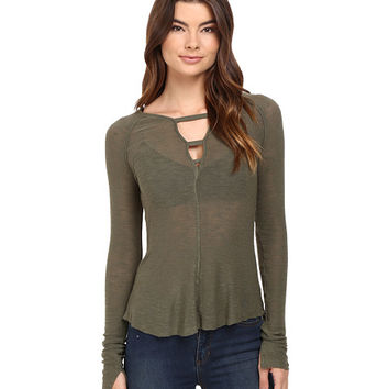 Free People Bae Bae Layering Top Olive - Zappos.com Free Shipping BOTH Ways