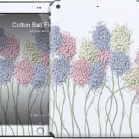 Cotton Ball Flower Scene iPad by One Artsy Momma | Nuvango