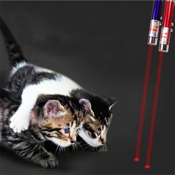 Cat LED Chaser Training Toy 2 in 1 Funny Children Play Cat Interactive Multi-pattern Light Pen For Pet Playing Training Tool