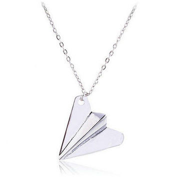 Harry Style Necklace Paper Airplane Pendant Jewelry Chain Fashion Necklace