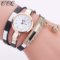 Brand Fashion Leather Bracelet Watches Women Luxury Stripe Style Wrist Watch Female Quartz Wristwatch