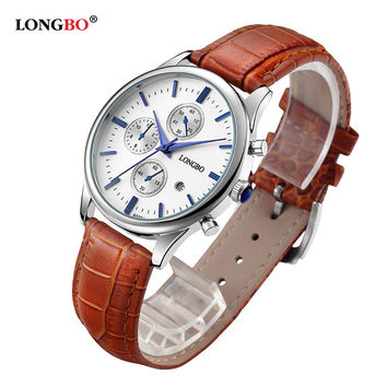 LONGBO Clock Male Watch Men Watches 2016 Top Brand Luxury Famous Style Quartz Watch Wrist for Men Quartz-watch Relogio Masculino