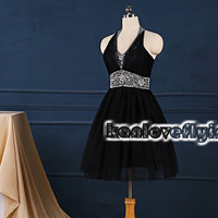 Little black homecoming dresses,2015 black short prom dresses,mini dress,short party dress gowns,cocktail dress,mini black sweet16 dresses