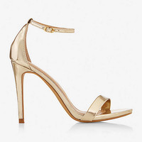 MIRRORED SKINNY STRAP HEELED SANDAL from EXPRESS