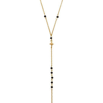North Star Beaded Lariat Necklace