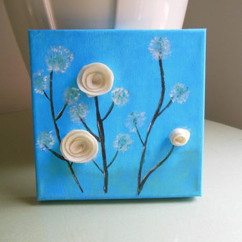 Shop 3d flower canvas art on wanelo for 3d canvas ideas