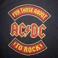 "New! ACDC ""For Those About To Rock""  Classic Rock Licensed Juniors XL T-Shirt"